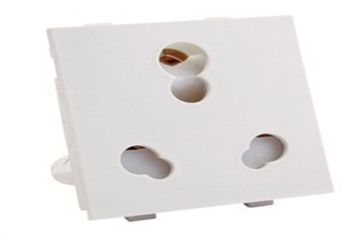 2 Module Multisocket with Shutter